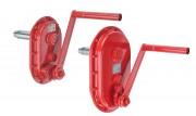 Engrenage à manivelle - Charge autorisée (kg) : Jusqu'à 3000 première couche - 2200 dernière couche