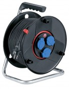 Enrouleur à disjoncteur thermique - Équipé de 4 prises 2 P+T-16 A-230 V