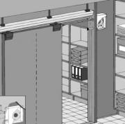 Enrouleur avec amortisseur - Dispositif de fermeture avec amortissement pour portes coulissantes