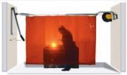 Enrouleur de rideau pivotant - Largeur (m) : 8