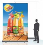Enrouleur publicitaire - Format (cm) : de 60 x 160 à150 x 200