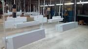 Enseigne publicitaire extérieur en PVC - Bandeau en PVC  - tablette en aluminium pliée - 4 x 3 standard - autre