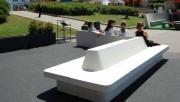 Ensemble banc public en béton - Système modulable de banc béton