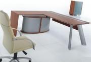 Ensemble bureau direction et extension convivialité - Dimensions des bureaux en cm : de 130x600x58 à 210 x100x75