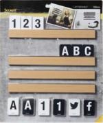 Ensemble d'étagères murales - 4x étagères de 25 cm et 169 cartes double-face