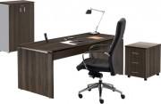Ensemble de bureau complet - Composition : bureau - armoire et caisson
