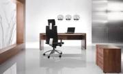 Ensemble de bureaux de direction de prestige - Dimensions des tables de réunion en cm : 100x100x72 - 200x80x72 -  240x110x72