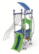Ensemble jeux d'escalades pour enfants - Dimensions (L x l x H) mm : 3686 x 2145 x 4216