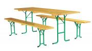 Ensemble pour terrasse - Composantes : table - banc - table comptoir