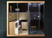 Mobilier sauna et douche en bois exotique - Système de chaleur sèche régénérateur pour le corps