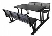 Ensemble table et bancs 1615 mm - Longueur : 1615 mm