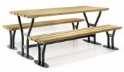 Ensemble table et bancs 200 cm - Longueur : 2000 mm