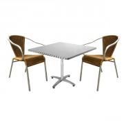Ensemble table et fauteuils pour terrasse - ENS-5
