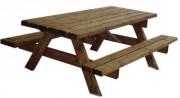 Ensemble table pique-nique Plateau 75 x 74 cm - Dimensions plateau (L x H) cm :75 x 74 cm