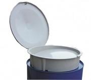 Entonnoir avec couvercle - Pour cuve de stockage d'huile usagée - En polyester armé de fibre de verre