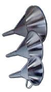 Entonnoir médical en inox - Capacité : 0.5 à 3 L - Diamètre : 150 à 250 mm