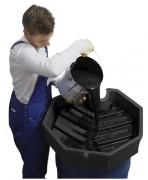 Entonnoir pour fût de 200 litres - En polyéthylène ou en acier - Pour fût de 200 litres