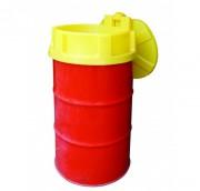Entonnoir pour fûts avec couvercle - Polyéthylène - Compatible pour fût de 200 L