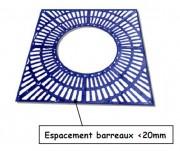 Entourage d'arbre PMR en fonte 1000 x 1000 mm - Type : PMR - Dimensions extérieures (mm) : 1000 x 1000