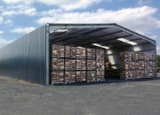 Entrepôt de stockage métallique - Bâtiment galvanisé à chaud