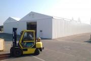 Entrepôt de stockage temporaire couvert - Portée de 5 à 20 m, modulable par travée de 5 m
