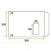 Enveloppe avec fenêtre mécanisable - Format : 229 x 324 mm