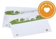 Enveloppe blanche écologique - Format : 162 x 229 mm