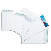 Enveloppes C4 229x324 mm velin blanc 90g auto-adhésives - PROMOTION - Lot de 2 boites de 250 enveloppes - NF environnement - GPV