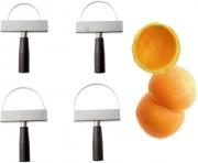 Eplucheuse à melon en inox - 4 lames de diamètre 8, 9, 10.5 et 12 cm