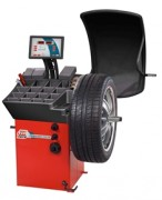 Equilibreuse avec affichage numérique - Freinage et mesure de largeur de la roue automatique
