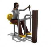 Equipement fitness pour PMR - Modules fitness outdoor PMR pratique sportive extérieure