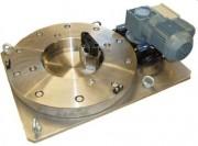 Équipement pour une tronçonneuse de dégrappage - Table tournante motorisée