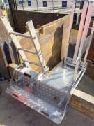Escabeau d'accès en fond de fosse - Hauteur: 1044 mm - En tôle aluminium - Charge maxi : 1 prs/150Kg