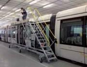Escabeau d'accès toiture tram - Pour Toiture de transport en commun