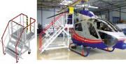 Escabeau de maintenance hélicoptère