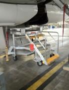 Escabeau de piste aéronautique - 6 marches pour accès puits de train d'atterrissage