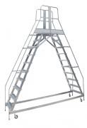 Escabeau double accès compact - Charge admissible : 150 kg