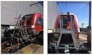 Escabeau ferroviaire mobile - Structure en aluminium - Double système de déplacement