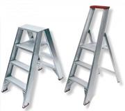 Escabeau fixe Solide simple accès - Hauteur de travail : de 2,50 à 5,00 m - Capacité : 150 Kg