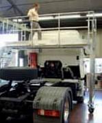 Escabeau mobile d'accès pour cabine de camions - Fabrication spéciale