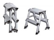 Escabeau pliant - Fabriqué en aluminium - Charge maximale : 265 kg