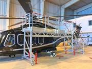 Escabeau pour la maintenance d'hélicoptère - Structure aluminium 100 x 30 mm - Charge : 150 kg - 1 personne