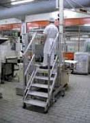 Escabeau roulant industrie agro-alimentaire - En aluminium