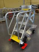 Escabeaux techniques 4 et 5 marches - 1 personne : 150 kg - En aluminium brut