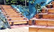 Escalier bois - Marche d'escalier