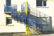 Escalier colimaçon industriel - Largeur de passage : de 500 à 1200 mm