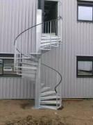Escalier en colimaçon sur-mesure - Galvanisé