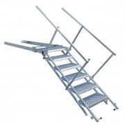 Escalier escamotable pour véhicules PL - Avec ou sans main-courante (rampe)