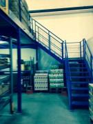 Escalier industriel droit avec palier - Escalier ERP - Sur mesure