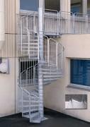 Escalier métallique de secours - Escalier hélicoïdal ou droit